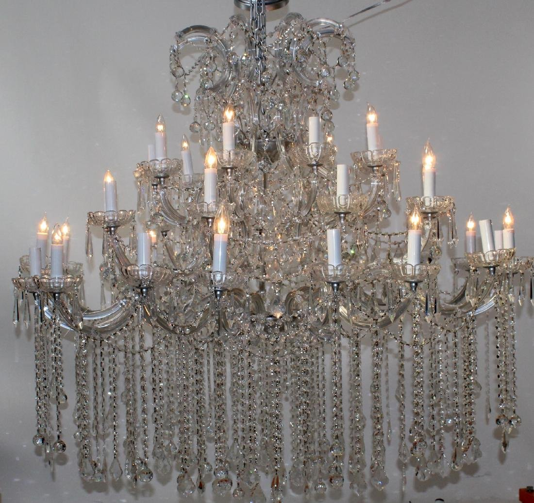 36 Light grand scale crystal chandelier - 4