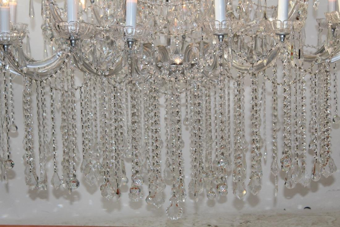 36 Light grand scale crystal chandelier - 5