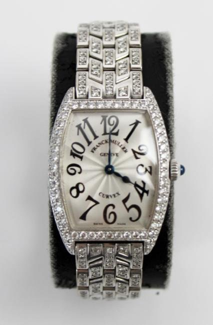 Franck Muller 18kt gold and diamond ladies watch