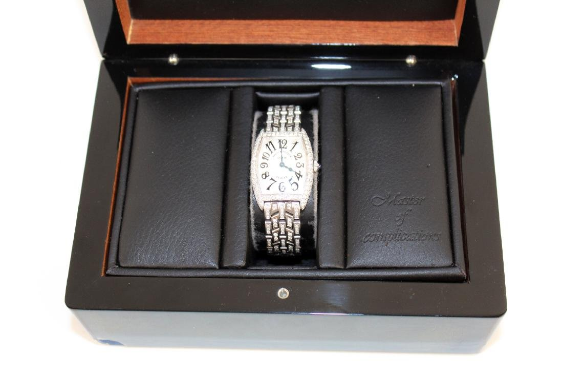 Franck Muller 18kt gold and diamond ladies watch - 3