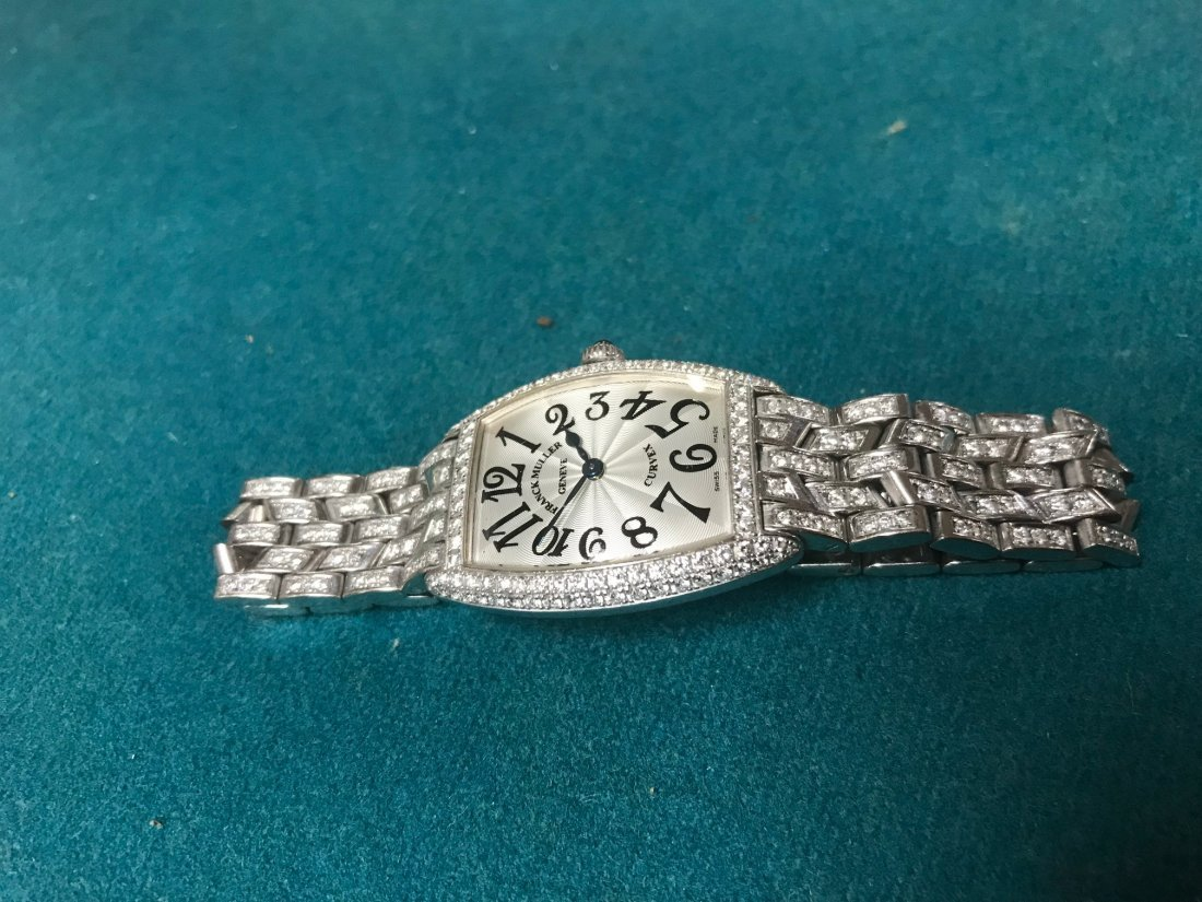 Franck Muller 18kt gold and diamond ladies watch - 8