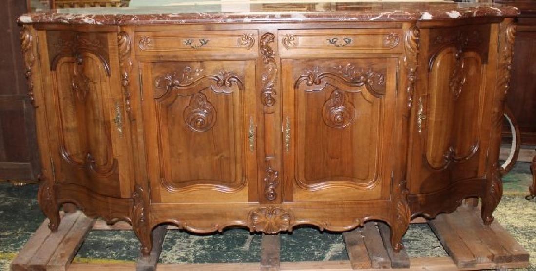 French Louis XV style walnut sideboard - 2