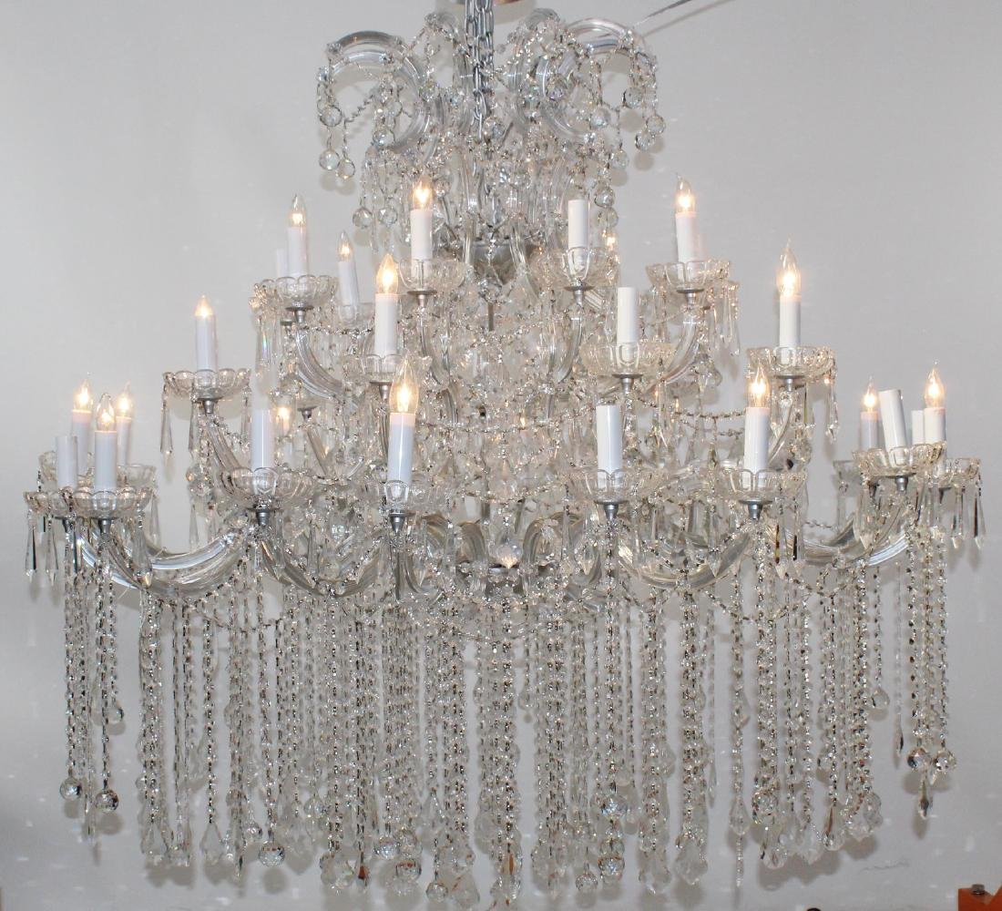 36 Light grand scale crystal chandelier
