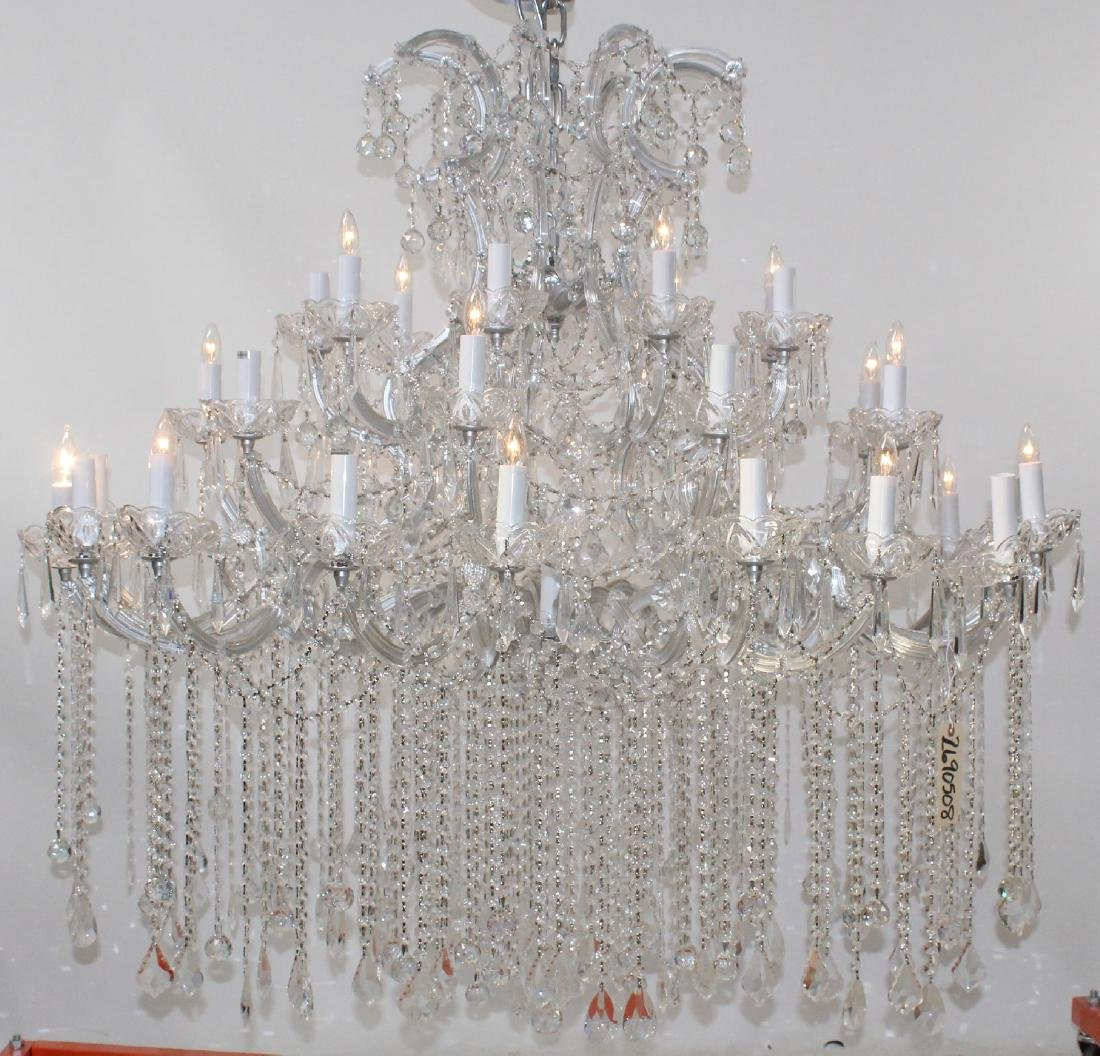 36 Light grand scale crystal chandelier - 6