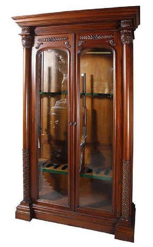 Amazing Two Door Mahogany Gun Cabinet Download Free Architecture Designs Scobabritishbridgeorg