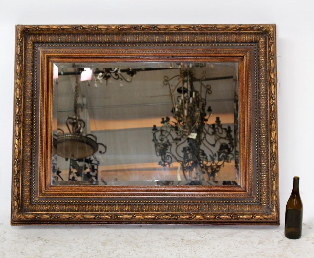 Gilt framed beveled mirror - 2