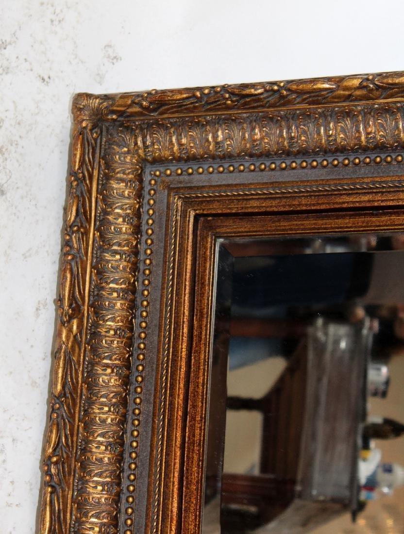 Gilt framed beveled mirror - 5