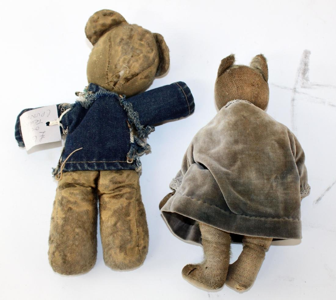 Lot of 2 Antique teddy bears - 2