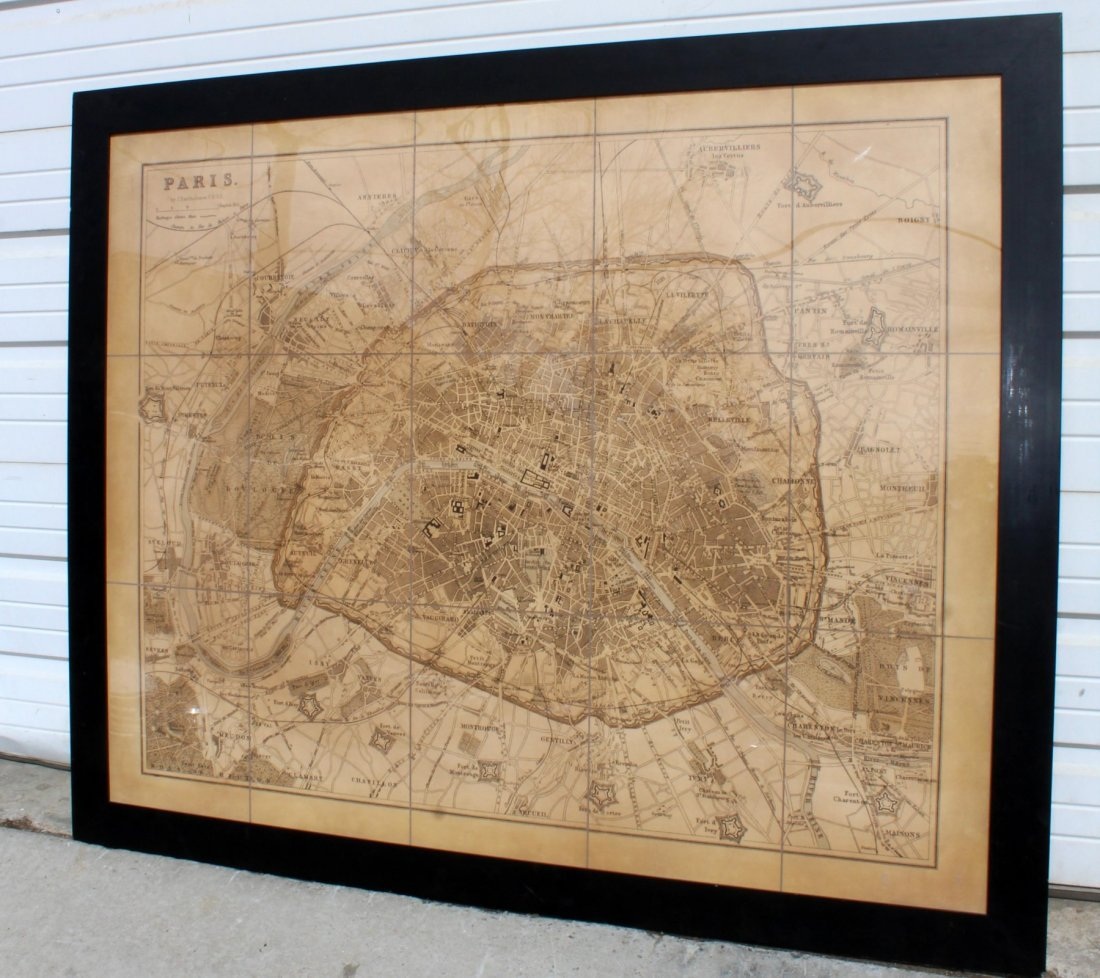 Large scale map of Paris - 2