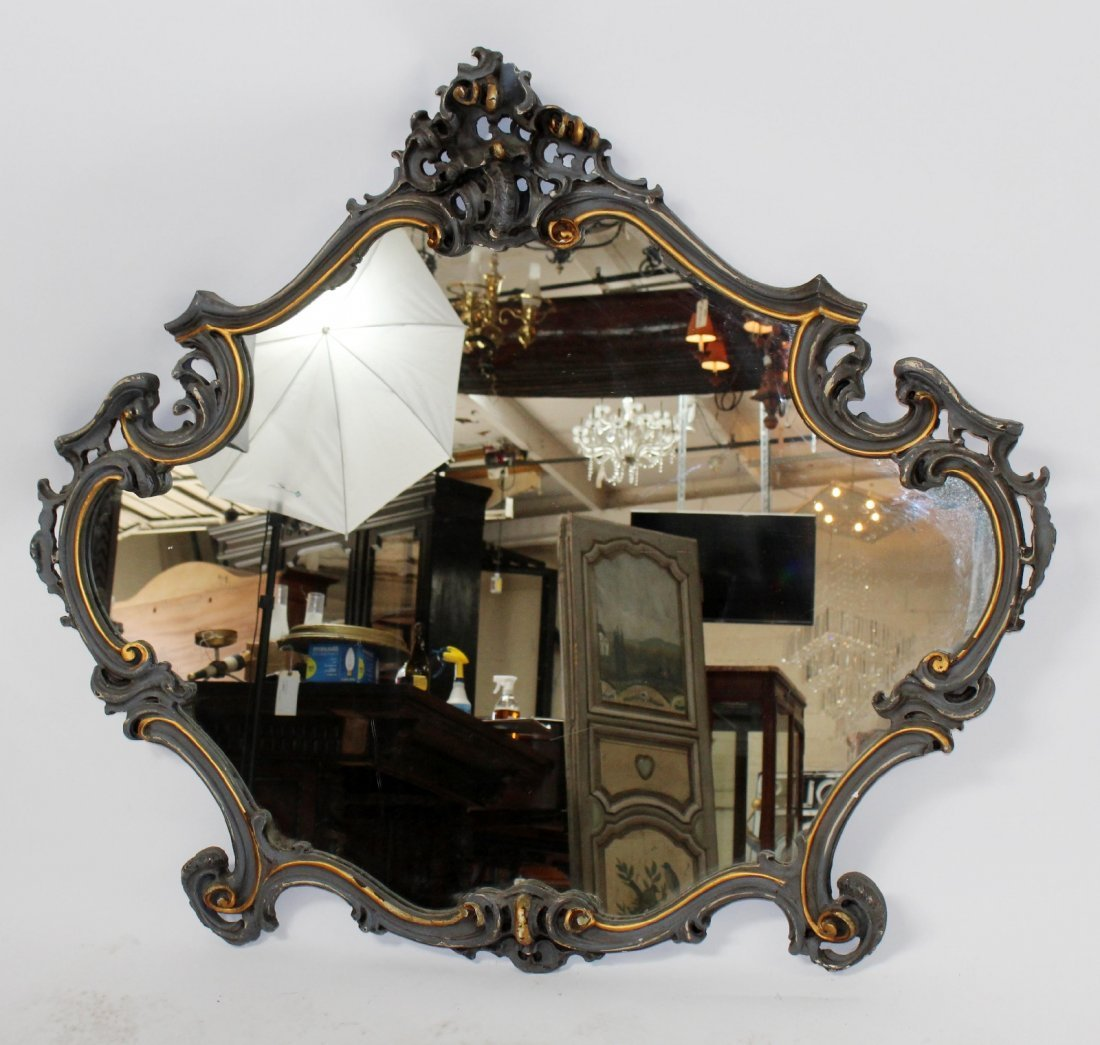 French Louis XV painted mirror