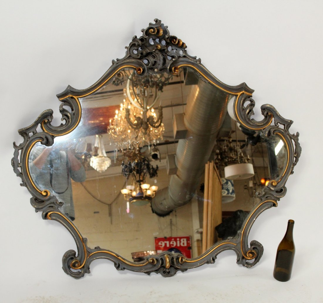 French Louis XV painted mirror - 2