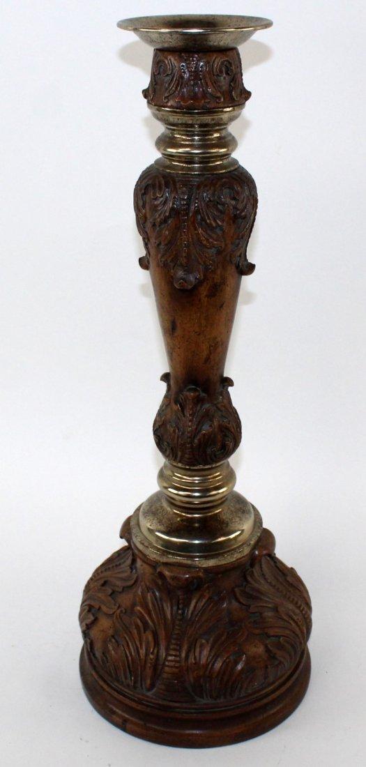 Maitland Smith acanthus scroll pillar candlestick - 4