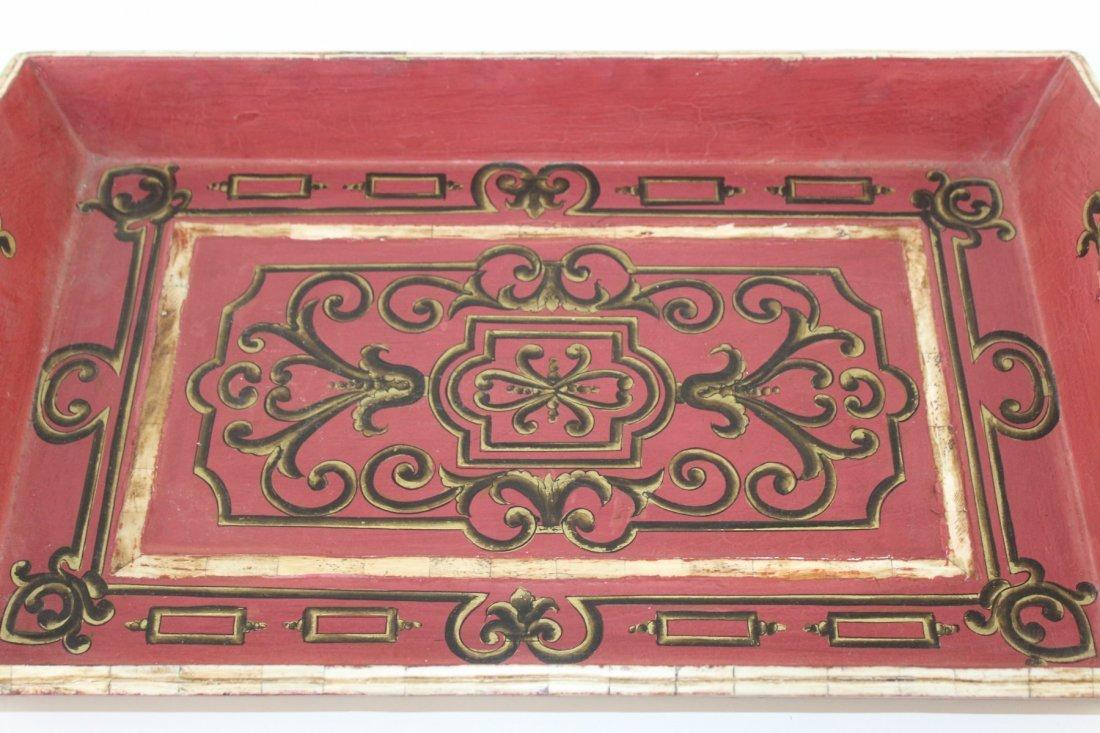 John Richard painted tray - 3