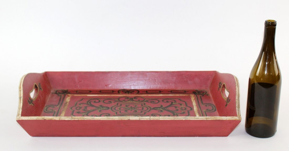 John Richard painted tray - 4