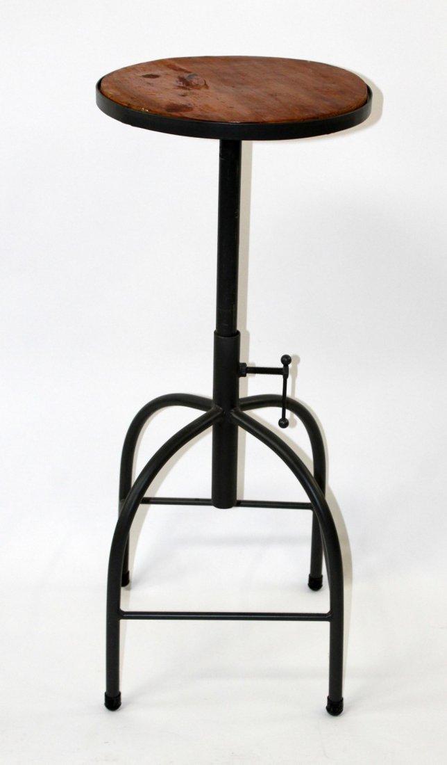 Adjustable industrial style bar stool
