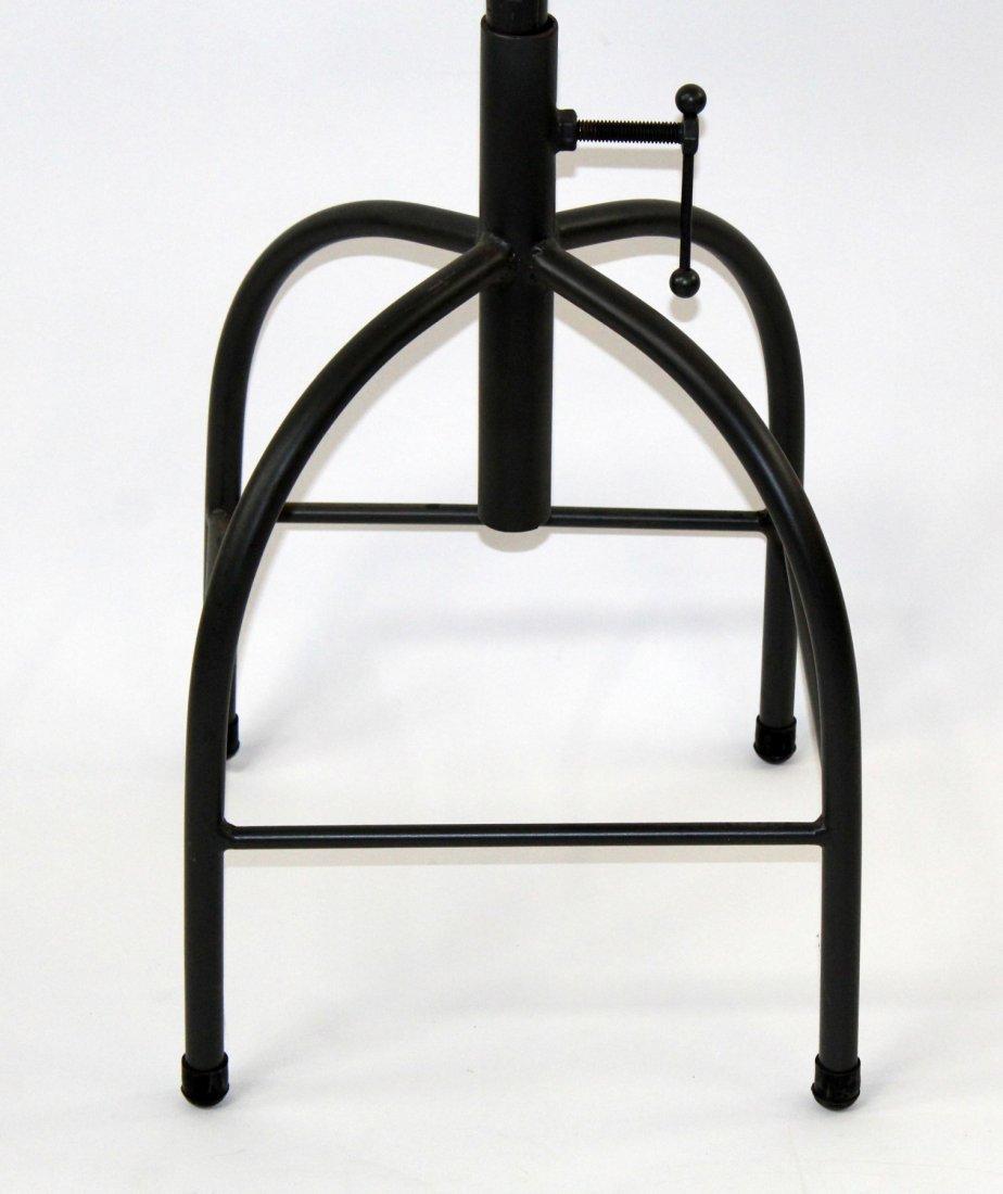 Adjustable industrial style bar stool - 2