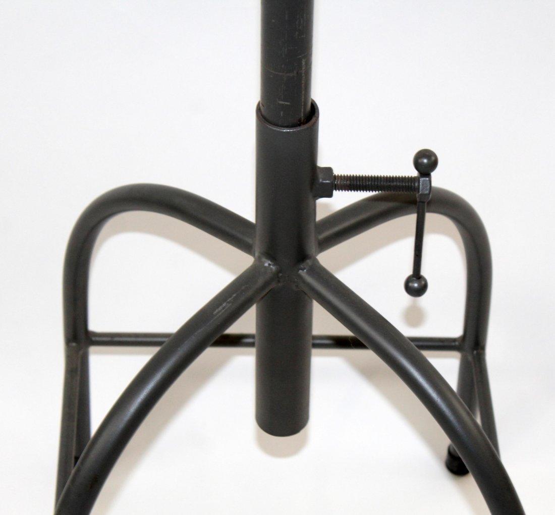 Adjustable industrial style bar stool - 4