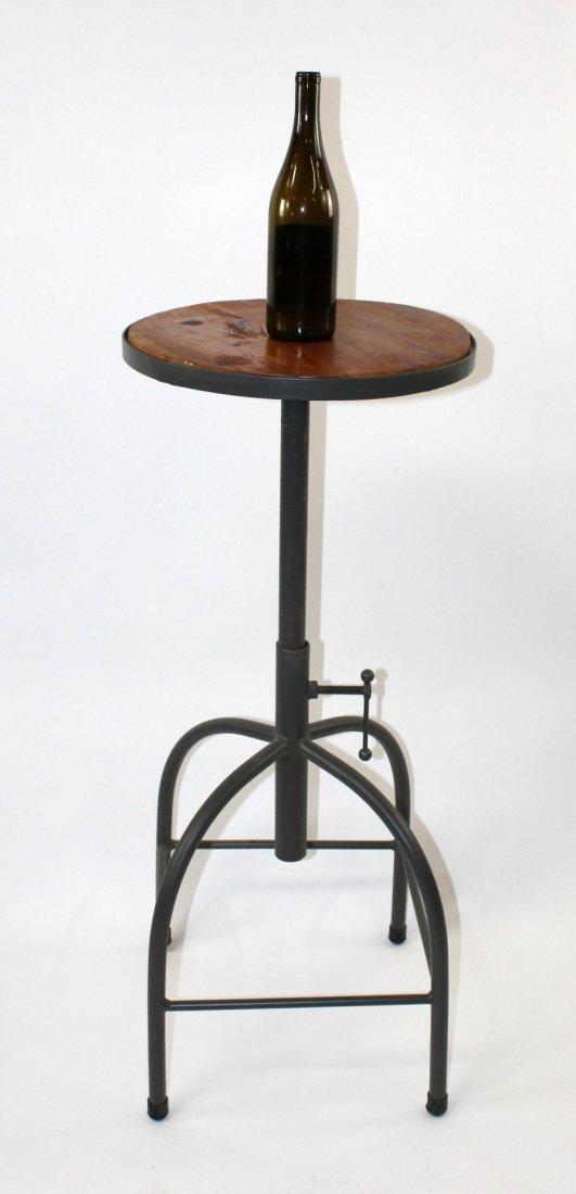 Adjustable industrial style bar stool - 5