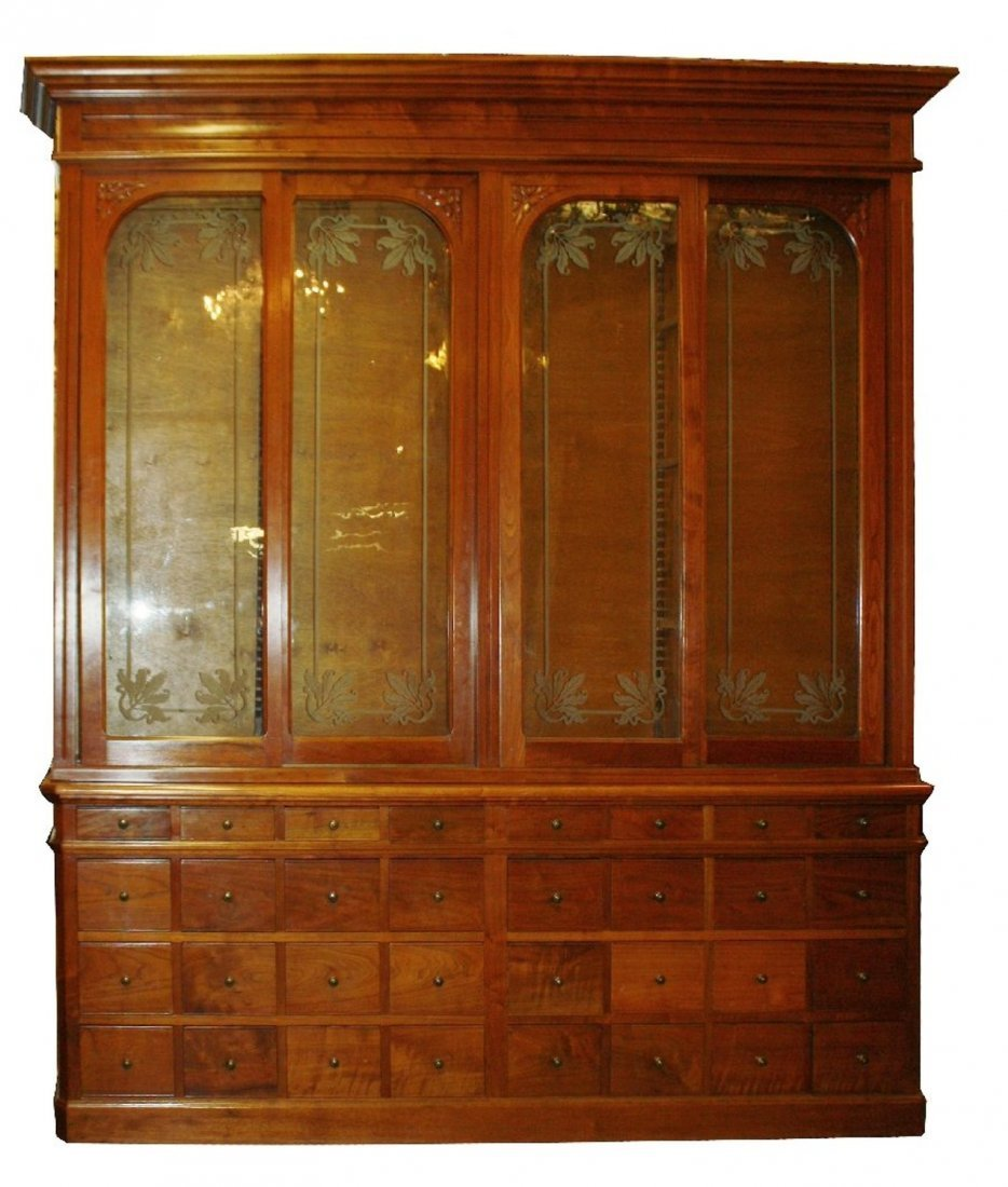 French Art Nouveau apothecary cabinet - 2