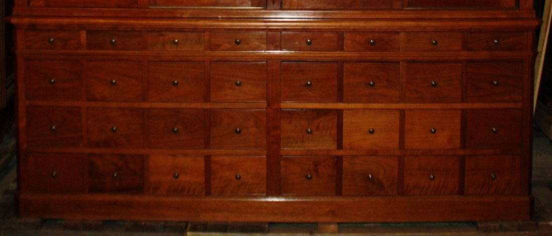French Art Nouveau apothecary cabinet - 5