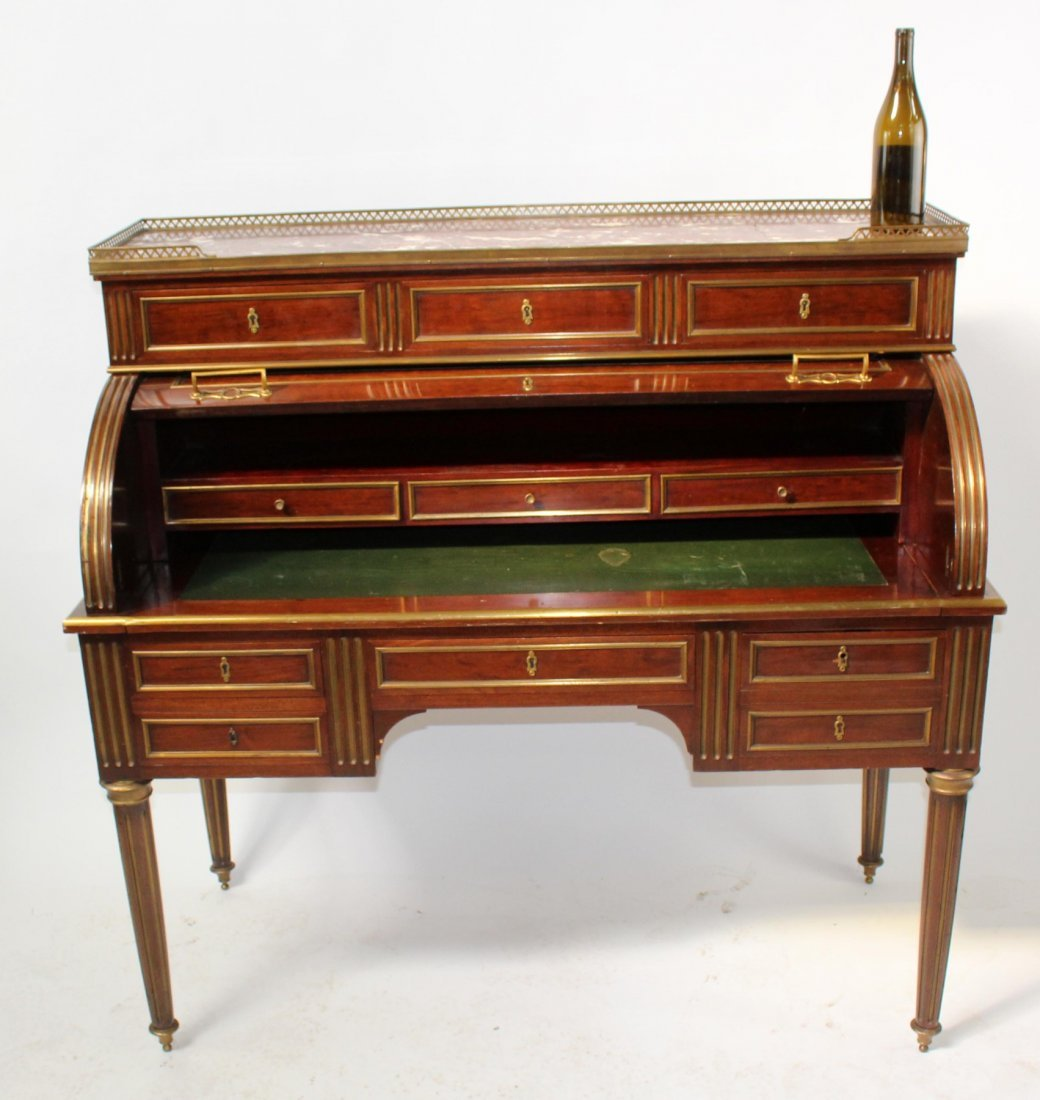 French Louis XVI cylinder desk - 6