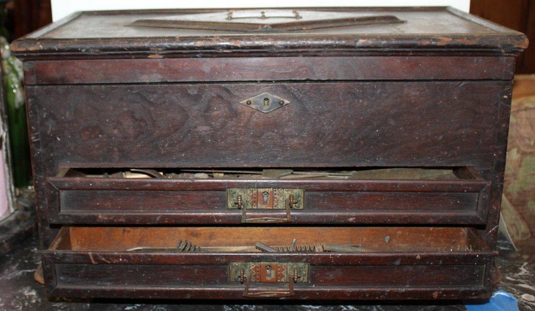 Antique American machinist's tool chest - 2