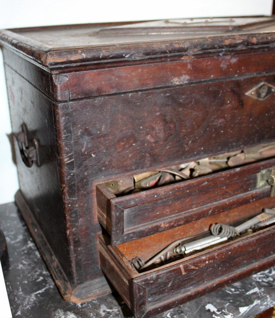 Antique American machinist's tool chest - 3