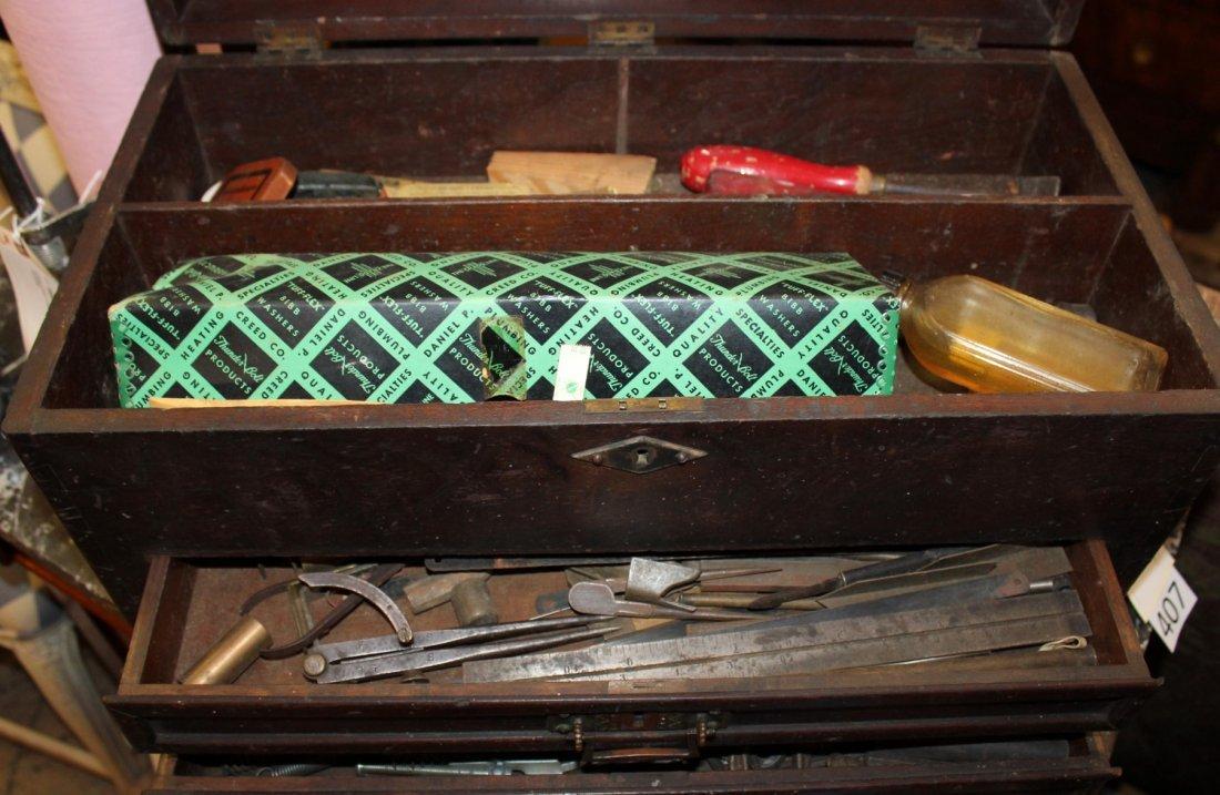 Antique American machinist's tool chest - 5