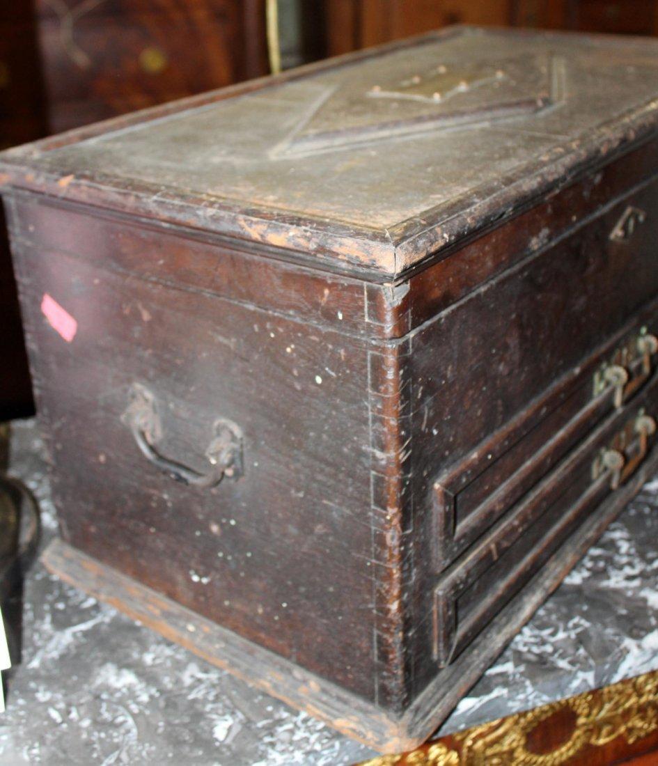 Antique American machinist's tool chest - 6