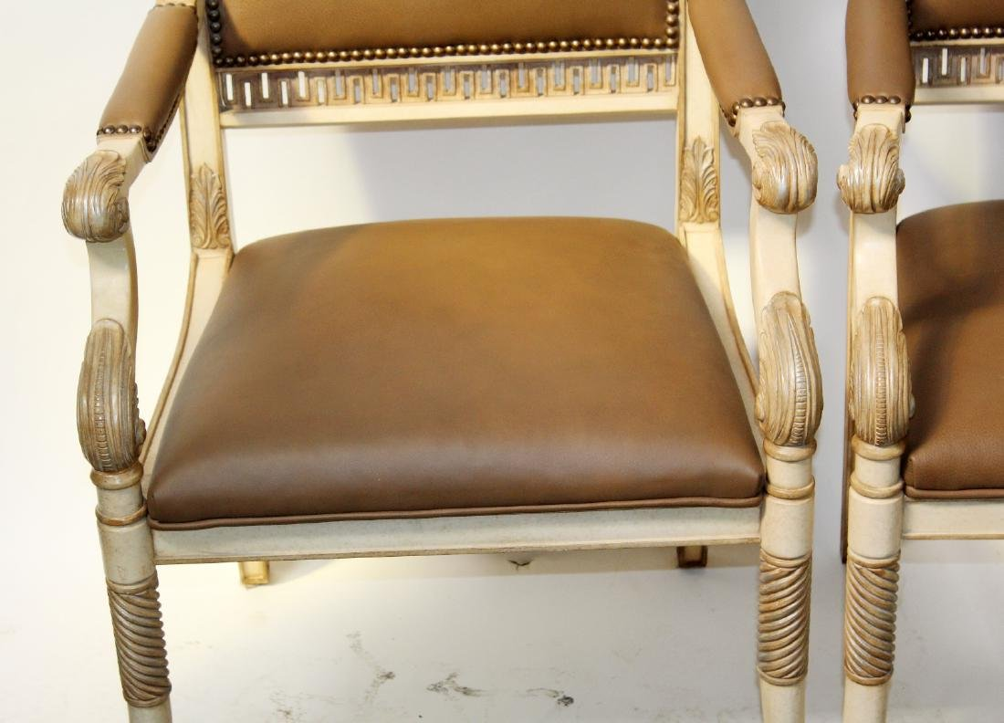 Pair of French Empire style armchairs - 8
