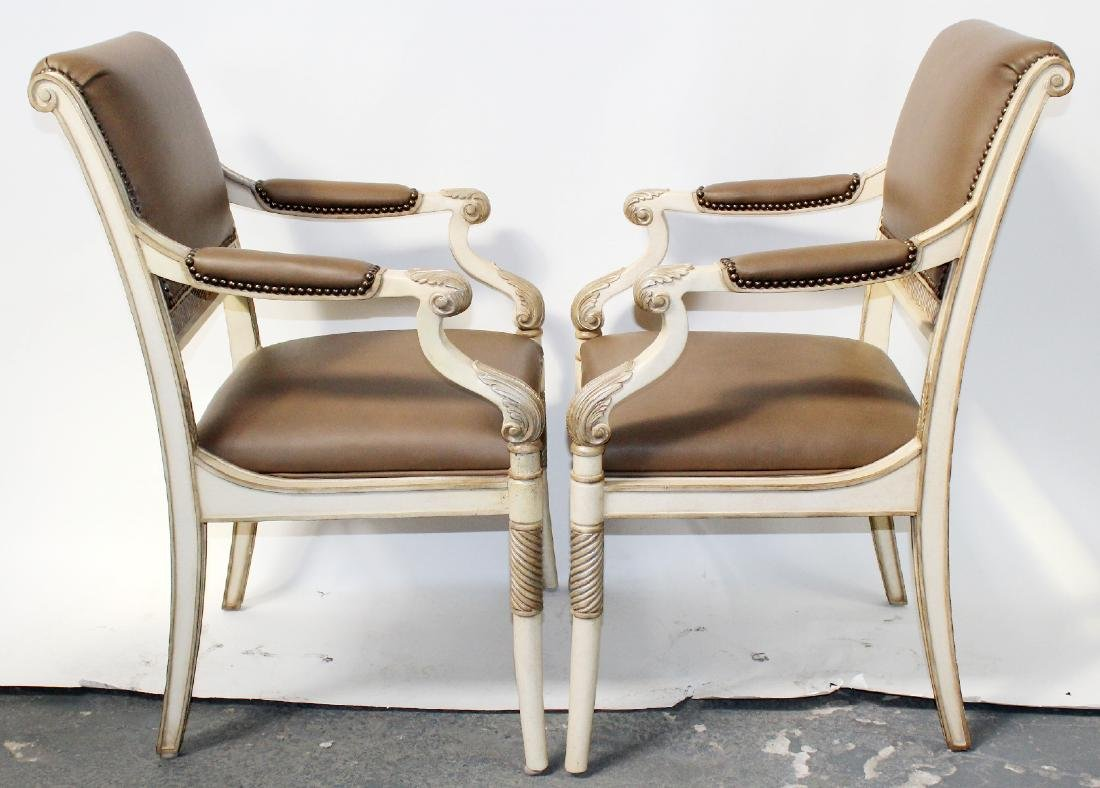 Pair of French Empire style armchairs - 6