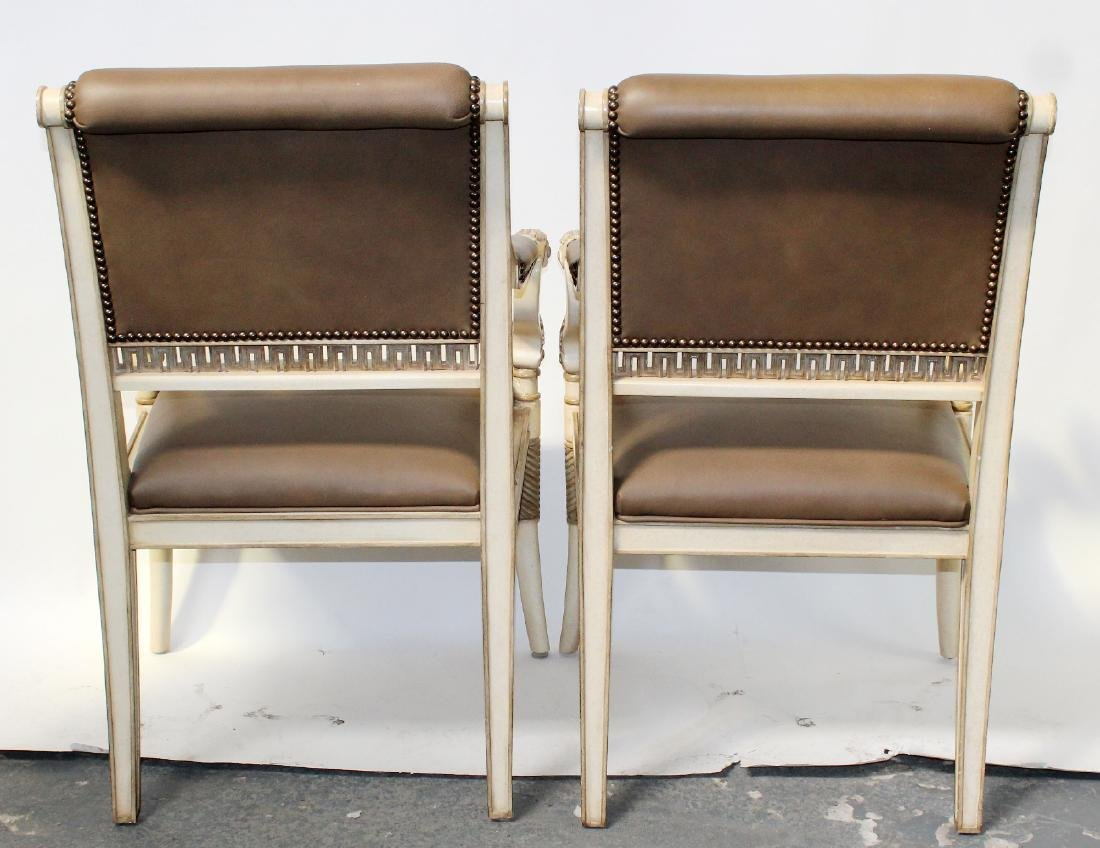 Pair of French Empire style armchairs - 7