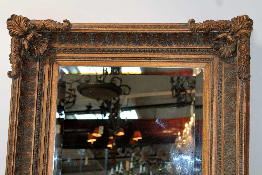 Acanthus decorated framed mirror - 5