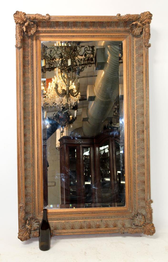 Acanthus decorated framed mirror - 2