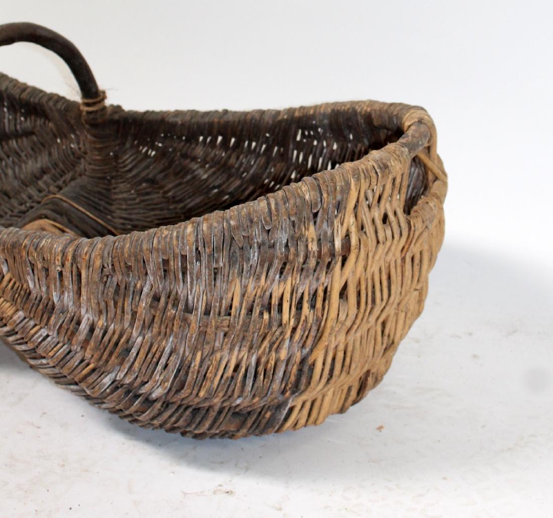 French wicker grape harvest basket Le Benaton - 4