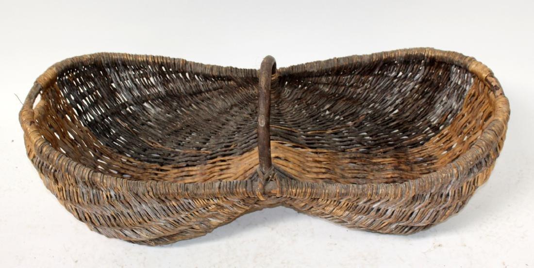 French wicker grape harvest basket Le Benaton - 3