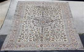 Persian Kashan wool rug 7'6 x 13'3