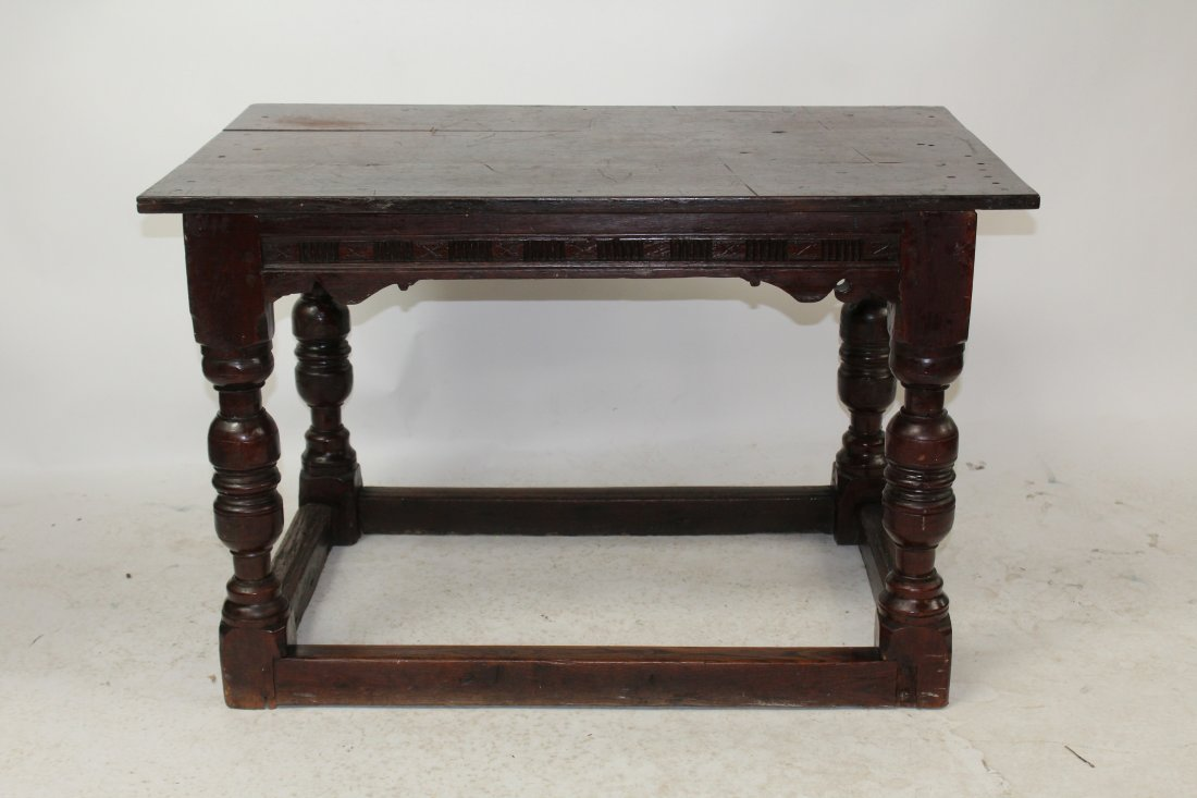 English Tudor style oak table