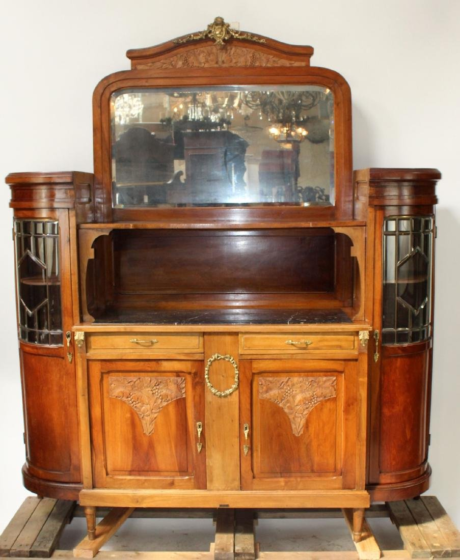 Louis XVI style curved side buffet