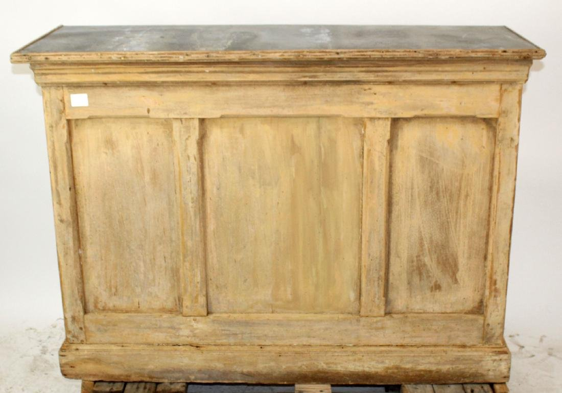French zinc top store counter in pine
