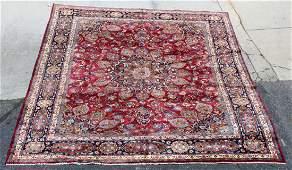 Signed Persian Mashad rug 9'9 x 12'