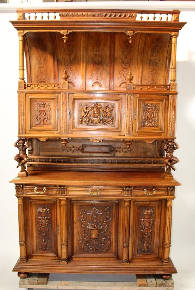 French Mannerist hooded buffet