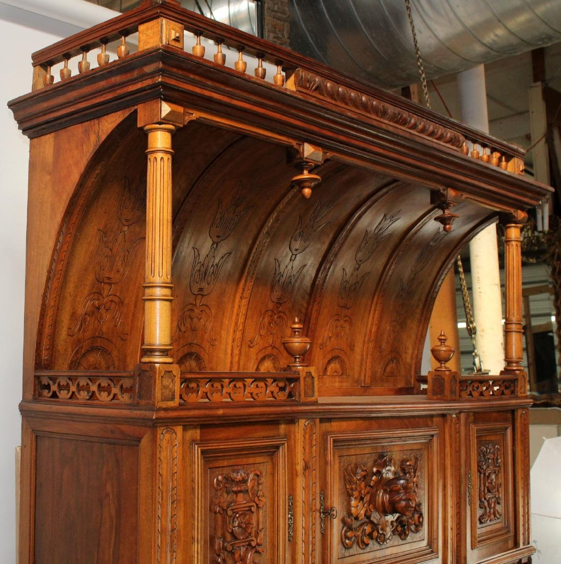 French Mannerist hooded buffet - 6