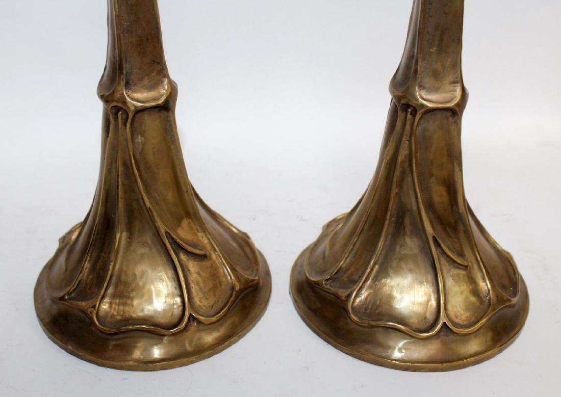 Maitland Smith  polished bronze candlesticks - 3