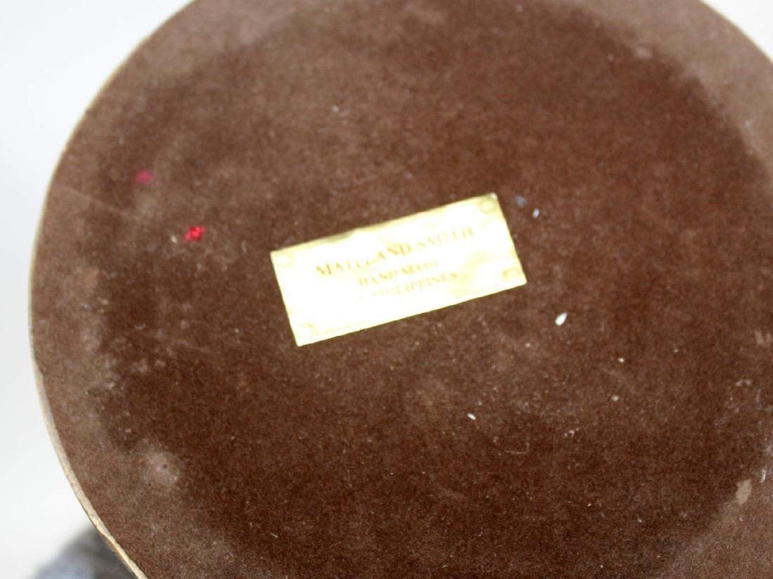 Maitland Smith  polished bronze candlesticks - 5