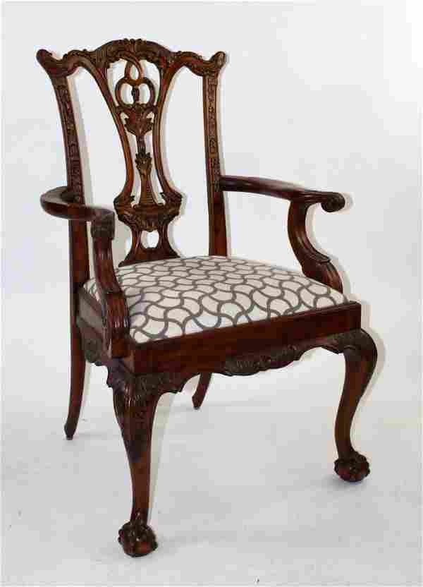Maitland Smith Chippendale style armchair.