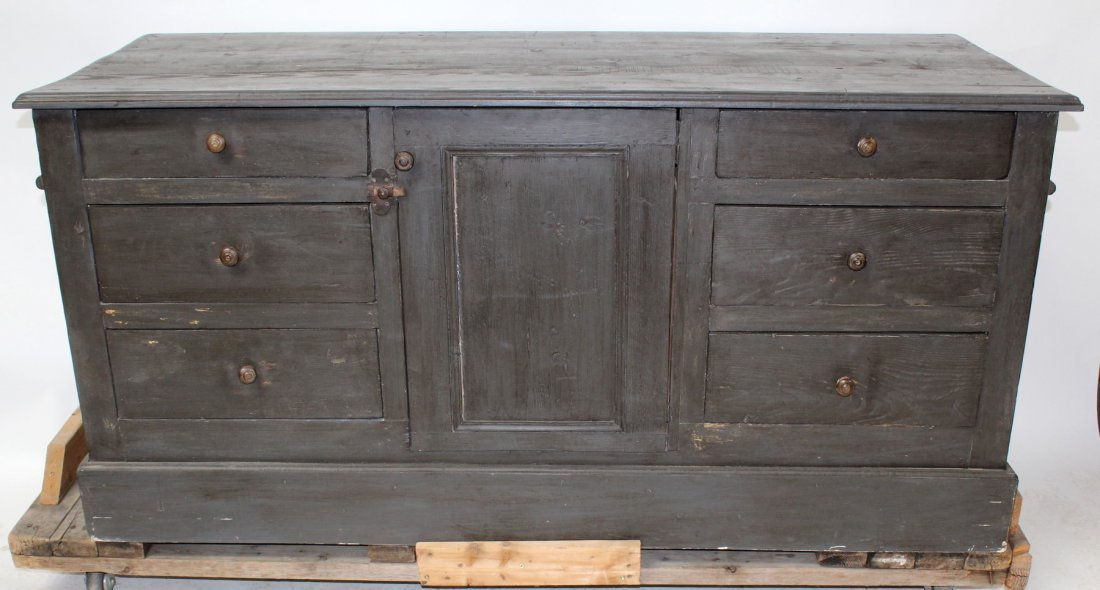French painted kitchen island/store counter