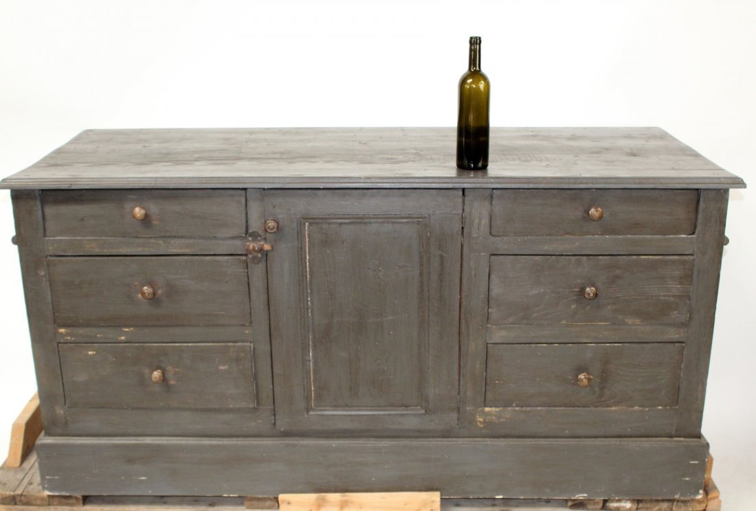French painted kitchen island/store counter - 2