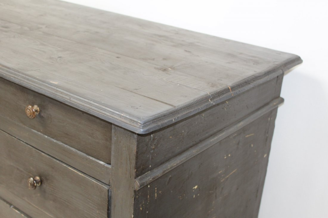 French painted kitchen island/store counter - 8