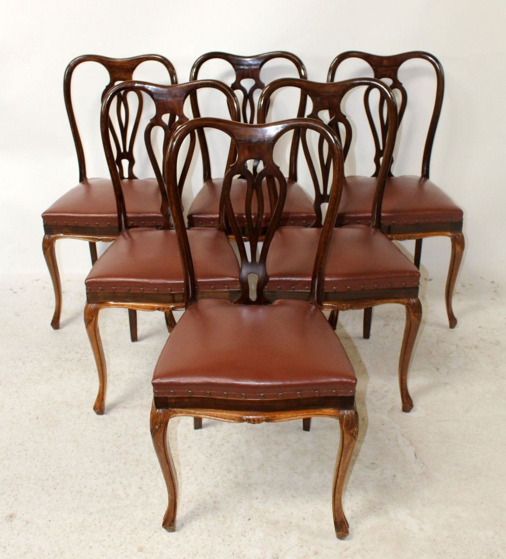 Set of 6 Italian Chippendale dining chairs
